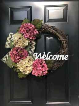 60 Beautiful Front Door Summer Wreath Decor Ideas (36)