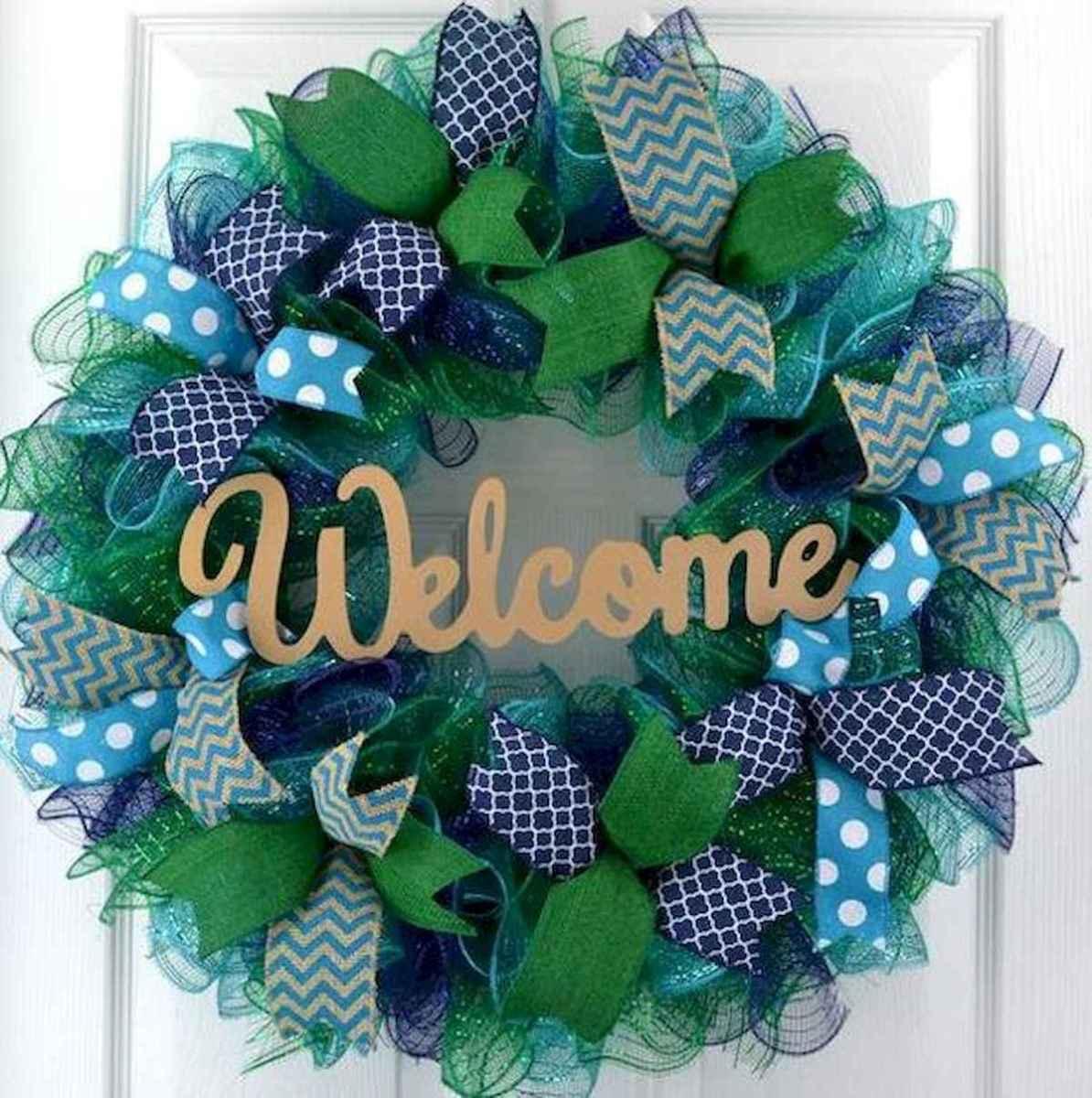 60 Beautiful Front Door Summer Wreath Decor Ideas (38)
