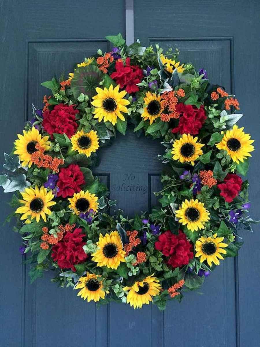 60 Beautiful Front Door Summer Wreath Decor Ideas (56)