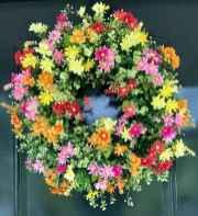 60 Beautiful Front Door Summer Wreath Decor Ideas (59)