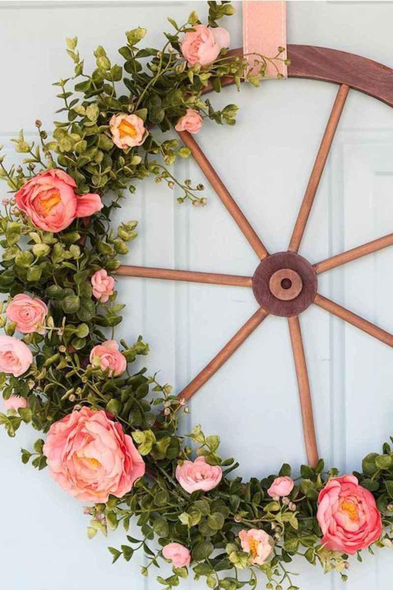 60 Beautiful Front Door Summer Wreath Decor Ideas (60)