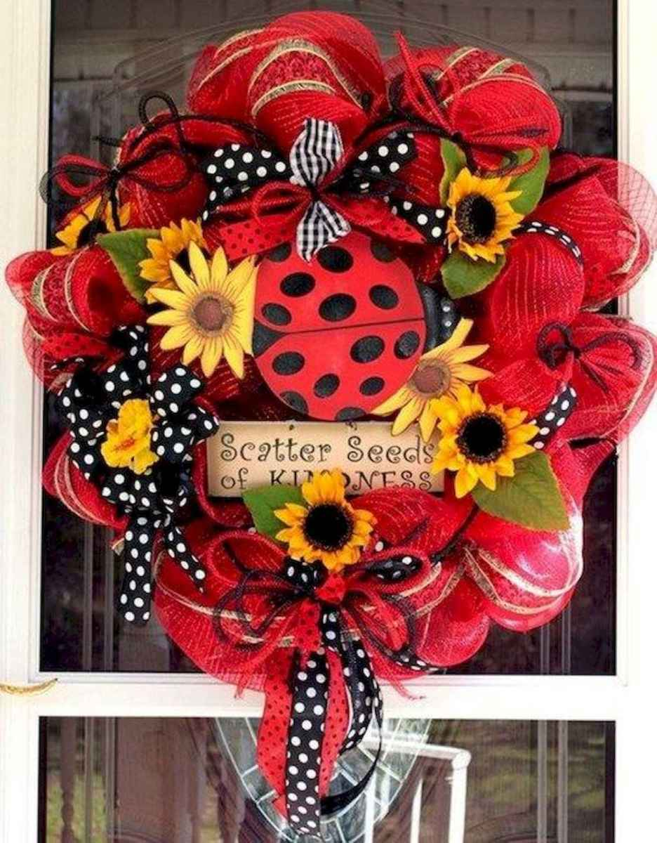 60 Lovely Summer Wreath Design Ideas and Remodel (21)
