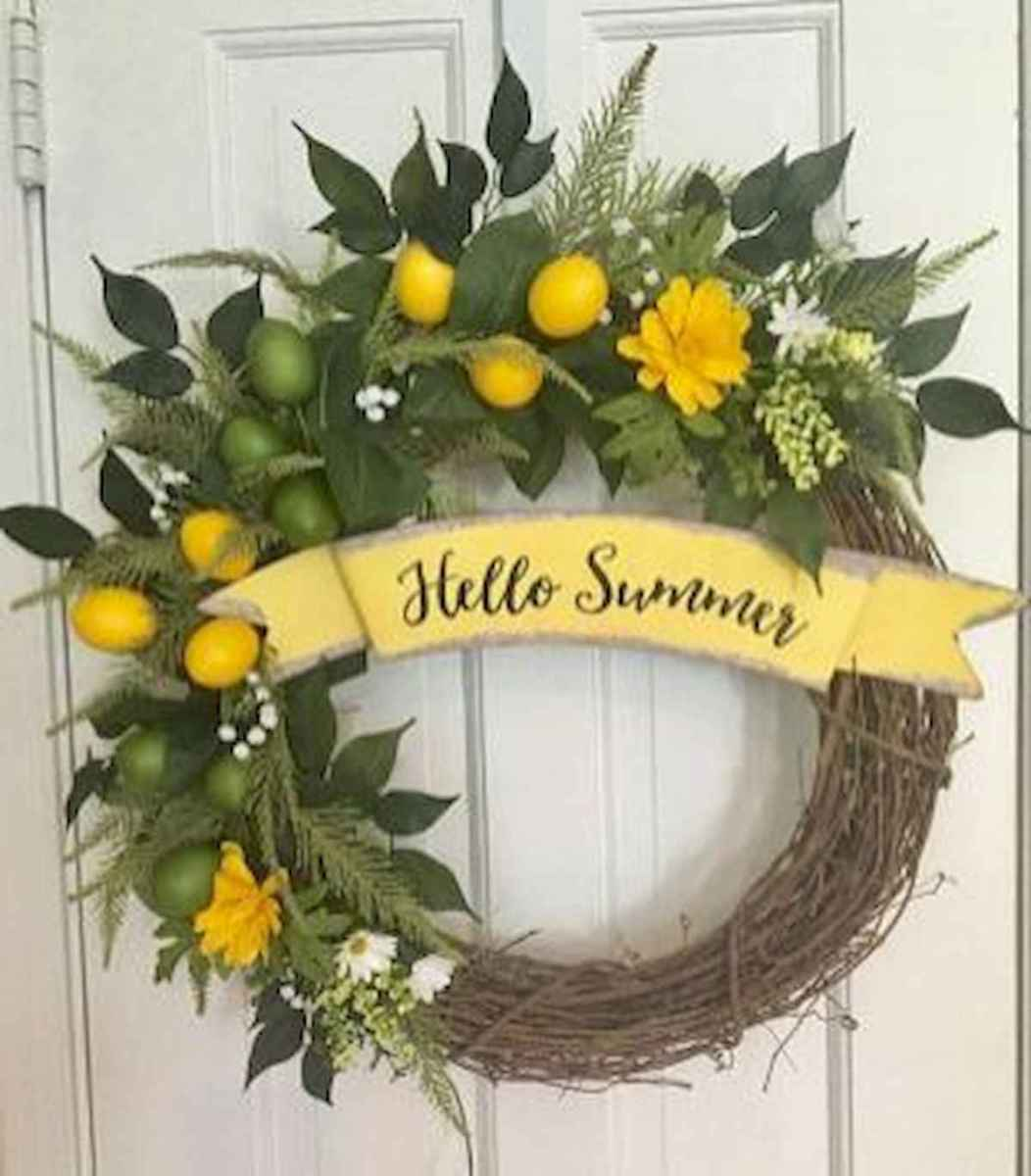 60 Lovely Summer Wreath Design Ideas and Remodel (24)