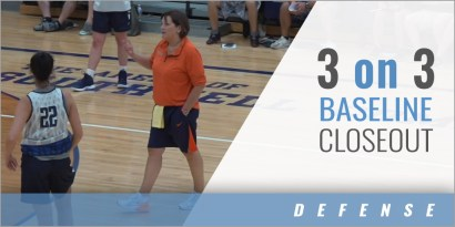 3 on 3 Baseline Closeout Drill