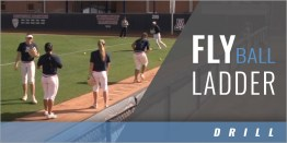 Outfielder's Fly Ball Ladder Drill