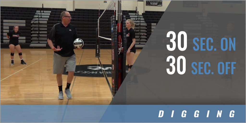 Digging: Cross Court Conditioning