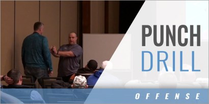 Offensive Line Pass Blocking: Punch Drill