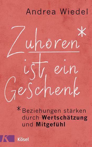 Buchcover mit Worten: Zuhören ist ein Geschenk