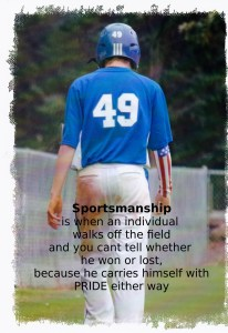 coaching youth baseball sportsmanship