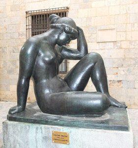 """Déesse Psyché : Perpignan, peintre Maillol, """"La Pensée"""""""
