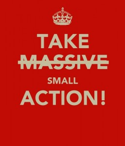 Take small action