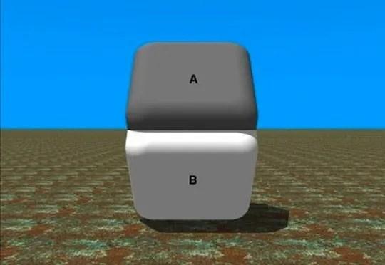 identical colour illusion