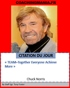 Chuck Norris « TEAM=Together Everyone Achieve More »