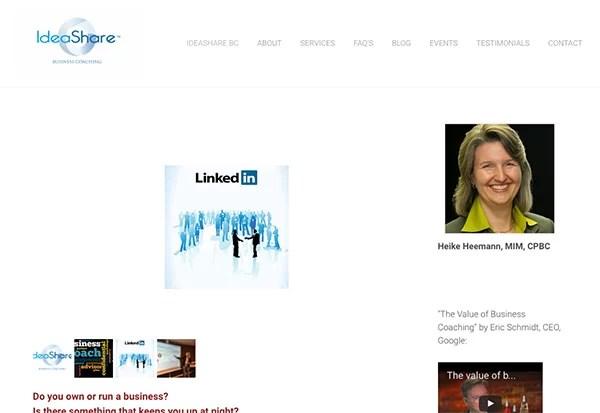 Coaching website tweak for Heike