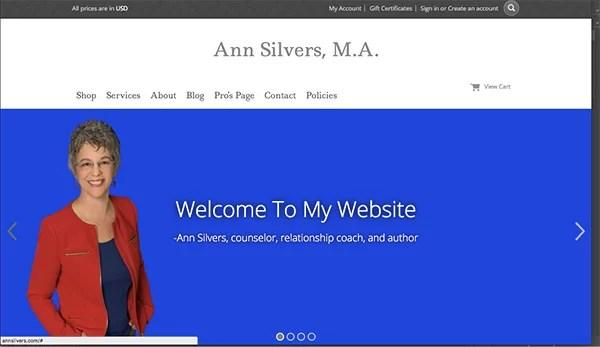 Coaching Website Tweak for Ann