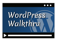 wordpress walk through