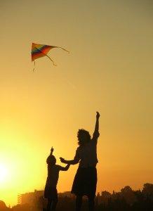 kite, mother, family