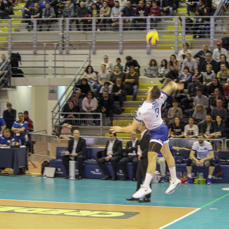 Serving: Stand or Jump?