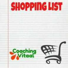 Boodschappenlijstje bij Coaching Vitaal