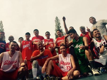 with my Abece Basket Community with Sandiaga S. Uno