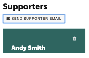 Send Supporters Welcome Message