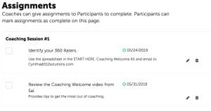 Coaching assignments - Coachmetrix