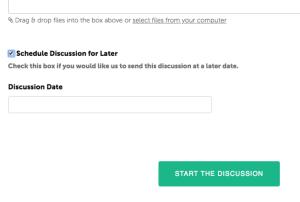 Schedule discussions - Coachmetrix