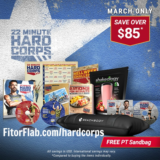 Beachbody 22 Minute Hard Corps Challenge Pack Sale