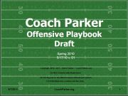 youth football offensive play book by coach parker