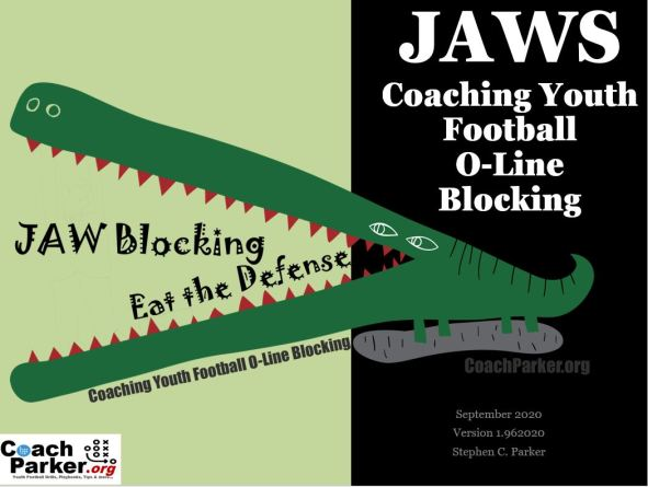JAWS Coaching Youth Football Lineman O-Line Blocking