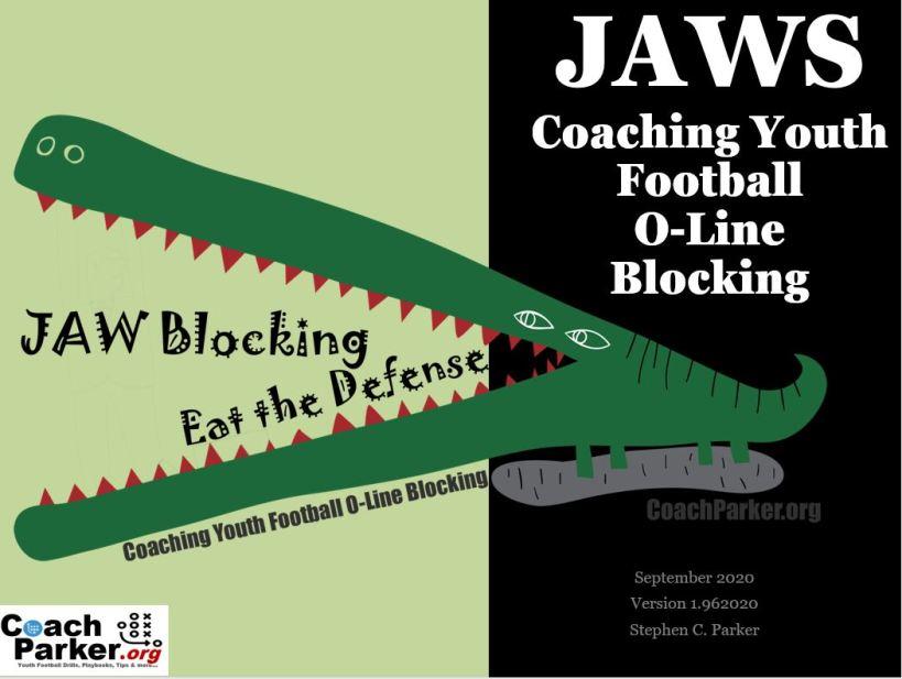 JAWS Coaching Youth Football Lineman O-Line Blocking