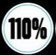 110% helmet award sticker