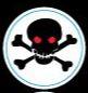 Skull helmet award sticker to motivate pee wee players