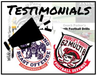 testimonials coach parker playbooks youth football
