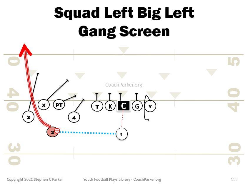 gang bunch screen pass play