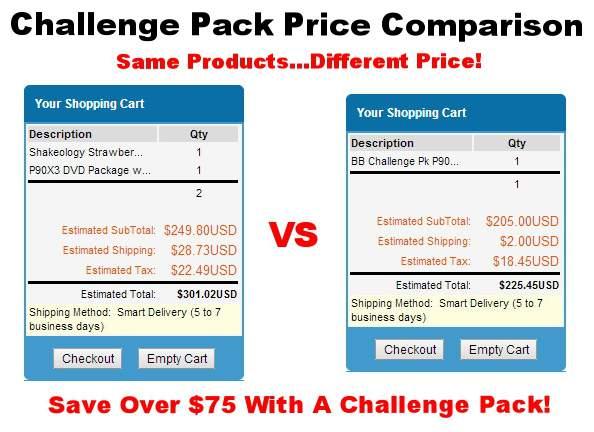Beachbody Challenge Packs Savings
