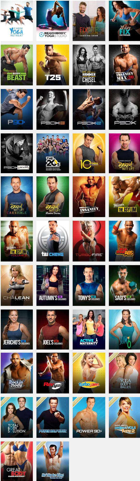 Beachbody On Demand Library