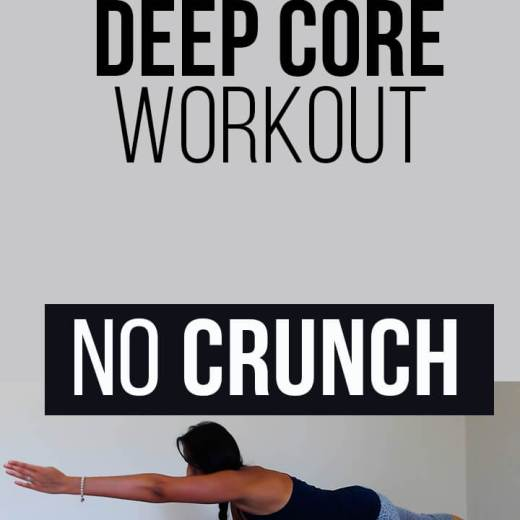 No crunch core exercises that will stabilize your spine, pelvis area. Alleviate hip and lower back pain with these lower impact core exercises