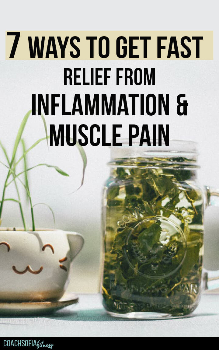 In this blog post, I am sharing 7 simple ways that have helped me get relief from inflammation and chronic muscle pain at home. These are things you can do daily to help you cope with the pain from piriformis syndrome, lower back pain, and arthritis. I hope you give them a try! #backpain #inflammationrelief #chronicpain