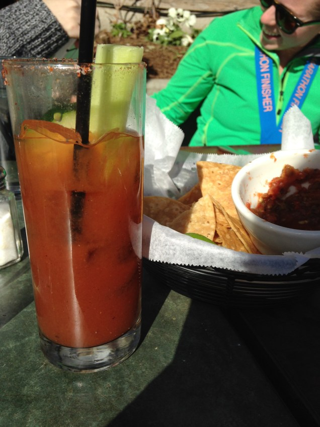 A big motivator for runners - drinks.