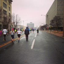 Mile 8, found the uphills toward the capitol.