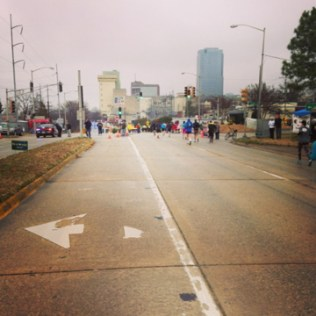 Last mile into the city! Still a beautiful day for a run.