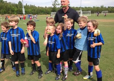 Matt Z's little one kicking the ball around in Chapel Hill, NC