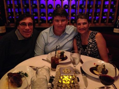 Dinner with Lynn Harden, owner of Stett Transportation, and her son Dylan