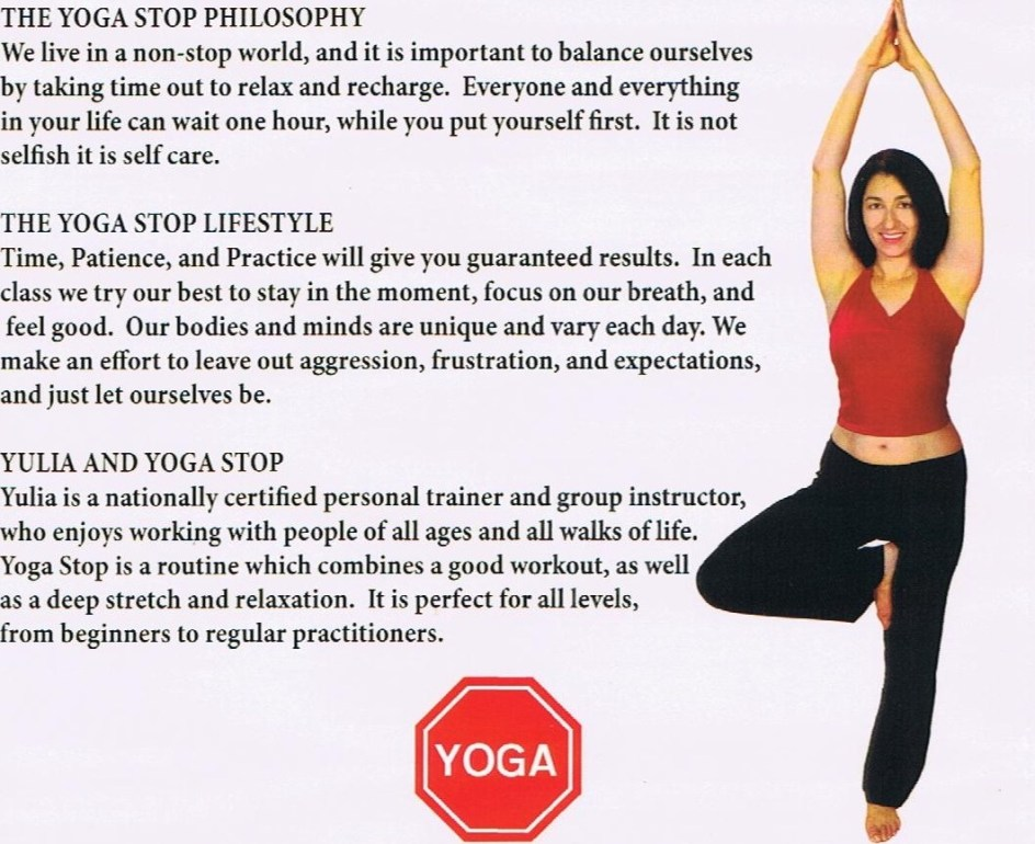 Yoga DVD back cover