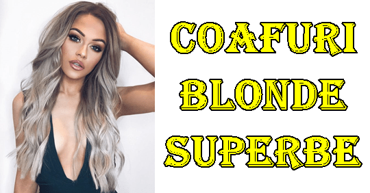 Coafuri par lung blond