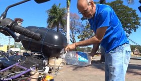 Motorcycle running on Water can travel 310 MILES on a single litre