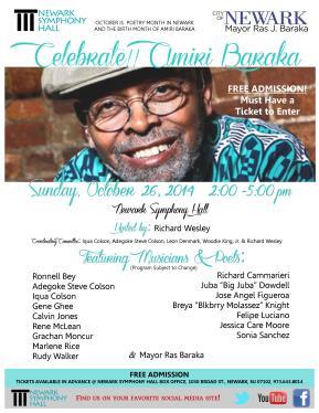 Celebrate!! Amiri Baraka - Poetry Month Celebration