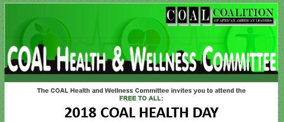 COAL Health Day October 20, 2018