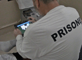 Inmate with Tablet